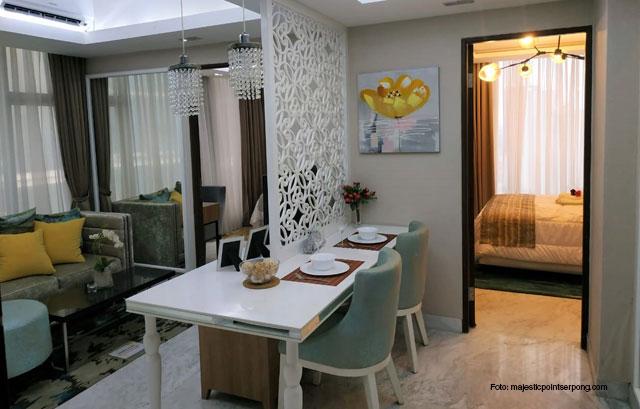 Interior apartemen Majestic Point Serpong
