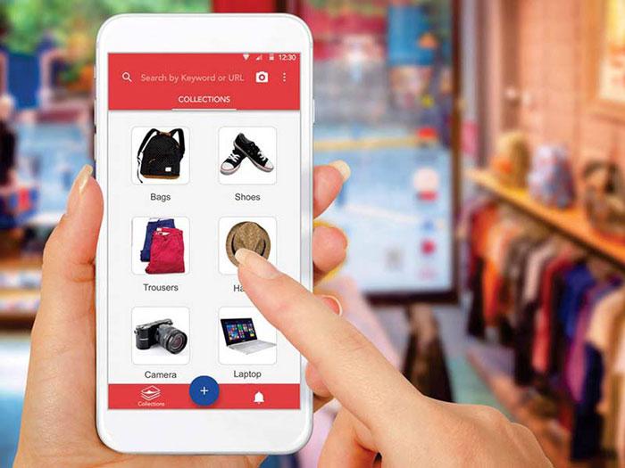 Belanja online menggunakan koneksi internet yang aman